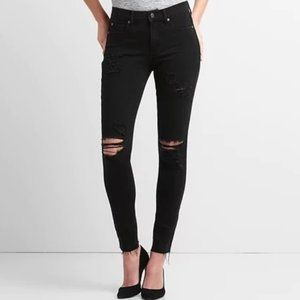 Gap Mid Rise Cropped Skinny Jeans 360 Stretch